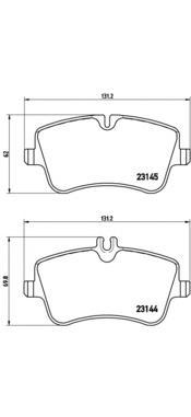 P50045 Колодки тормозные MERCEDES W203/209 00- передние