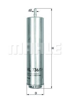 KL7361D Деталь KL736 1D_фильтp топливный! BMW F
