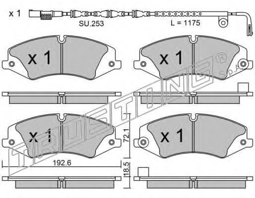 8536W К-т торм. колодок Fr с датч. L.R.Discovery 09-