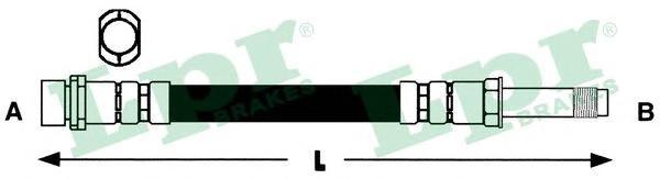 6T46589 Шланг торм M10x1x370mm пер MONDEO (F19535)