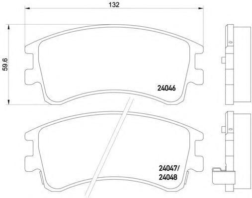 8DB355011141 Колодки тормозные MAZDA 6 02с индикат.износа передние
