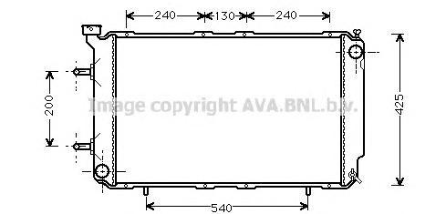 SU2032 Радиатор SUBARU LEGACY 2.5 94-00