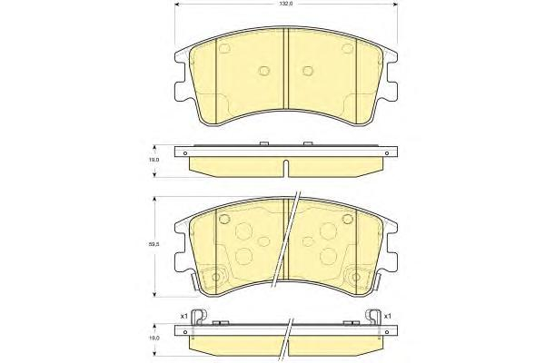6133109 Колодки тормозные MAZDA 6 02с индикат.износа передние