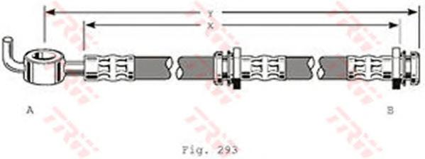PHD122 Шланг тормозной передн MAZDA: 626 92-97, 323 89-94