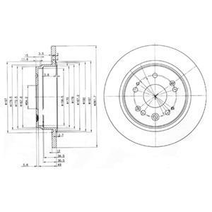 BG3797 Тормозной диск 2шт в упаковке