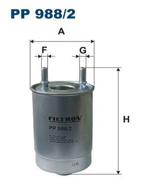 PP9882 Фильтр топливный RENAULT FLUENCE/MEGANE/SCENIC 1.5D-2.0D 08-