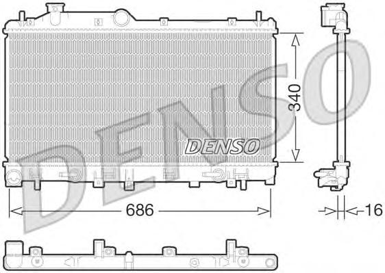 DRM36015 Радиатор SUBARU LEGACY 2.0/2.5 A/T 09-