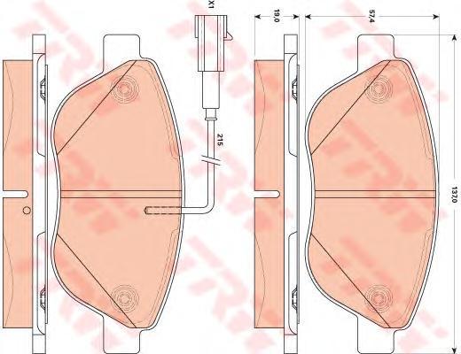 GDB1879 Колодки тормозные FIAT 500 10-/PUNTO 08- передние