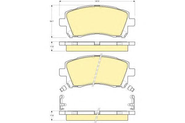 6132179 Колодки тормозные SUBARU FORESTER 9702/LEGACY 9603/OUTBACK 0003 передние