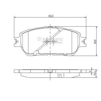 J3602121 Колодки тормозные TOYOTA CAMRY (V30) 01-06 передние