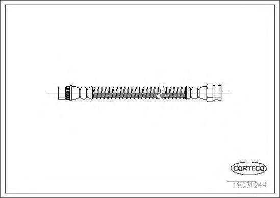19031244 Шланг тормозной CITROEN: C2 1.1/1.4/1.4 16V/1.4 HDi/1.6/1.6 HDi/1.6 VTS 03-, C3 1.1 i/1.4 16V/1.4 16V HDi/1.4 HDi/1.4 i