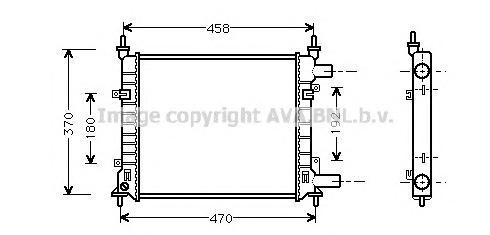 FD2257 Радиатор FORD KA 1.0-1.3 96-08