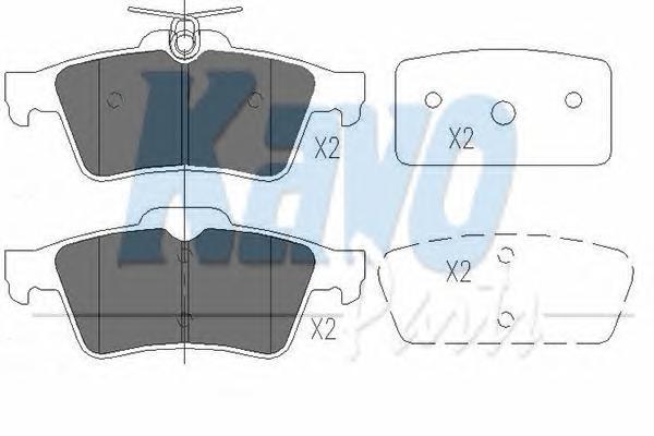 KBP6554 Колодки тормозные FORD FOCUS II/MAZDA 3/OPEL VECTRA C/VOLVO S40 задние