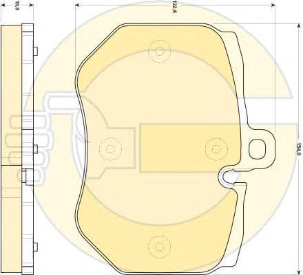 6118489 Колодки тормозные AUDI A6 RS6 quattro (1LN) 08-11 передние