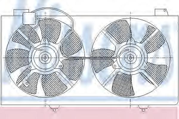 85529 Вентилятор радиатора MAZDA 6 1.8/2.0 A/T 02-