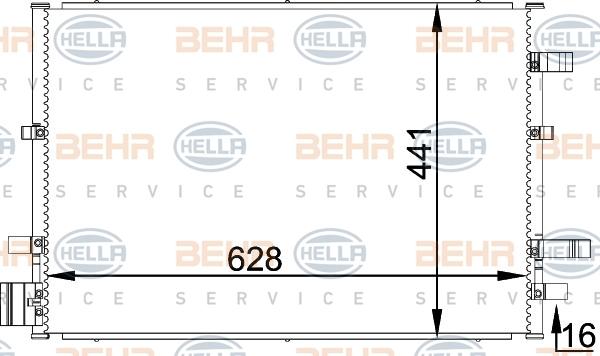 8FC351318361 Конденсатор кондиционера FORD: MONDEO III (B5Y) 2.0 16V DI / TDDi / TDCi/2.0 16V TDDi / TDCi/2.0 TDCi/2.2 TDCi 00-,