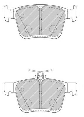 FDB4434 Колодки тормозные AUDI A3/VW GOLF VII 12- задние
