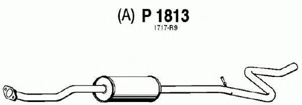 p1813 Средний глушитель выхлопных газов
