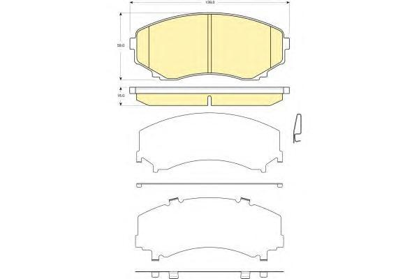 6133269 Колодки тормозные MAZDA MPV 99- передние