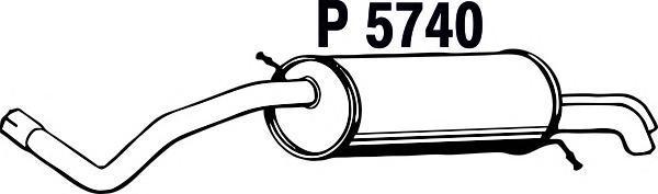 P5740 Глушитель SKODA FABIA 1.4-1.9TDi 00-