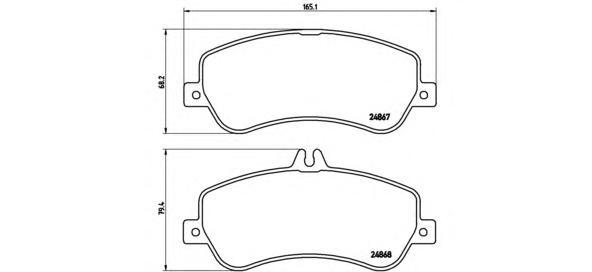 P50086 Колодки тормозные MERCEDES GLK X204 2.2-3.5 передние