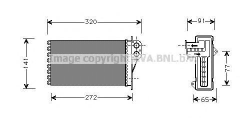 PE6199 Радиатор отопителя PEUGEOT 206 1.1-2.0 00-