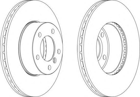DDF1536 Диск тормозной BMW 1 E81/E87/3 E90/E91/E92 передний D=300мм.