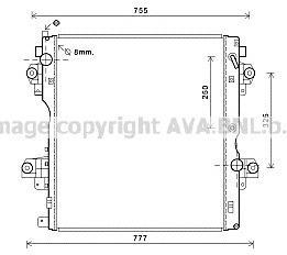 TO2604 Радиатор системы охлаждения TOYOTA: LAND CRUISER 150 (KDJ15, GRJ15) 3.0 D-4D 09- АКПП