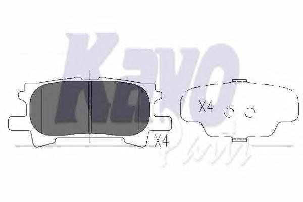KBP9078 Колодки тормозные LEXUS RX300/RX330/RX350 0308/RX400H 0509 задние