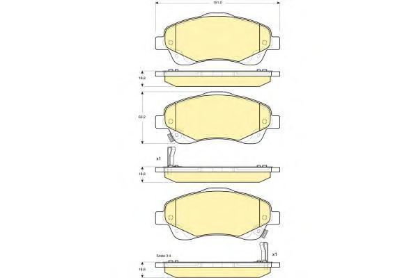 D2233M Колодки тормозные TOYOTA AVENSIS 03/COROLLA VERSO 1.8/2.0D/2.2D пер.