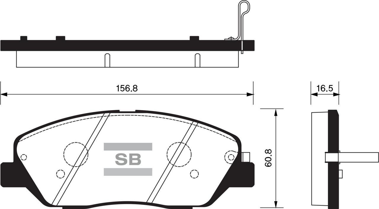 SP1246 Колодки тормозные HYUNDAI SANTA FE (CM)/(SM) 05-/KIA SORENTO (XM) 09- передние