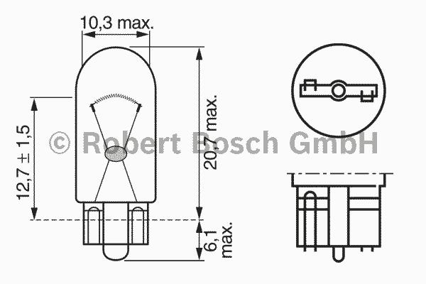 1987302518 Лампа W5W Trucklight 5 W 24 V W2,1x9,5d