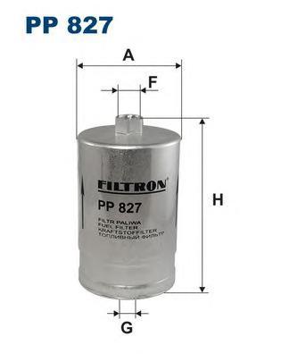 PP827 Фильтр топливный AUDI 80/A4/A6/A8 1.6-6.0/VW PASSAT 2.0-4.0 96-05