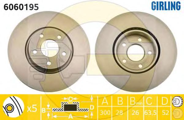 6060195 Диск тормозной FORD MONDEO IV 07- d=13.7мм передний