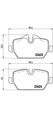 P06037 Колодки тормозные BMW E81/E87/E90 1.6-2.0 04- задние