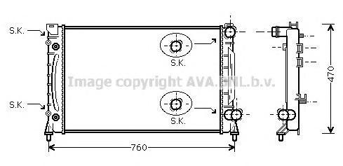 AIA2158 Радиатор AUDI A6 3.7/4.2 98-06