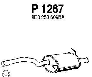P1267 Глушитель AUDI A4 1.9TDI 00-04