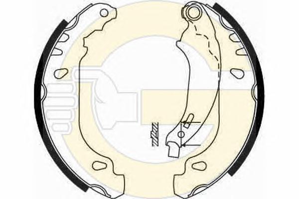 5186694 Колодки торм.бар.RENAULT LOGAN/CLIO (180x42) торм.система BENDIX
