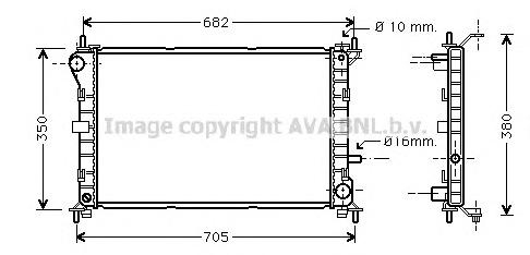 FD2264 Радиатор FORD FOCUS 1.4-1.8 98-04