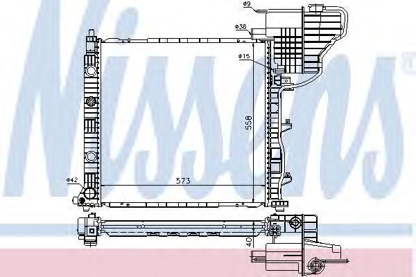 62775 Радиатор MB V-cl (638) +AC 97-03