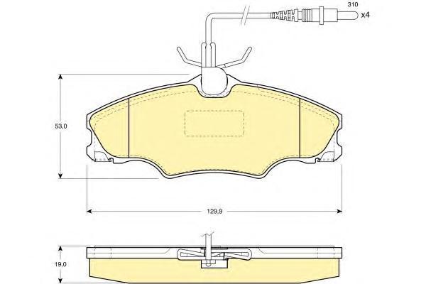 6111931 Колодки тормозные PEUGEOT 406 95-04 передние