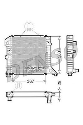 DRM33020 Радиатор системы охлаждения VOLVO: 440 K (445) 1.7/1.7 Turbo/1.8/2.0 88 - 96 , 460 L (464) 1.7/1.8/2.0 88 - 96 , 480 E