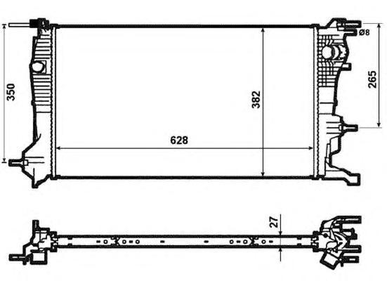 53963 Радиатор RE Megane 09-