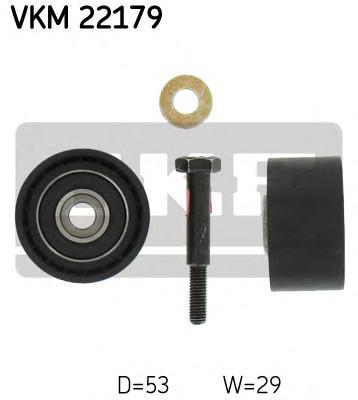 VKM22179 Ролик промежуточный ремня ГРМ Alfa. Fiat. 1.9TD/JTD 99 Opel Astra H/Vectra C 1.9CDTI 04