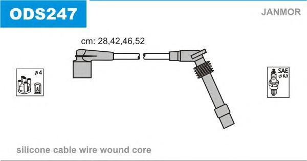 ODS247 Комплект проводов зажигания OPEL: ASTRA F CLASSIC хэтчбек 98-02, ASTRA F CLASSIC седан 98-02, ASTRA F CLASSIC универсал 9