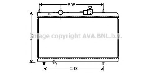 CNA2228 Радиатор PEUGEOT 607/807 / CITROEN C5/С8 3.0 A/T 99-