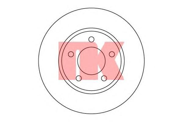 209313 Диск тормозной CHRYSLER VOYAGER/DODGE CARAVAN 00- передний D=281мм.