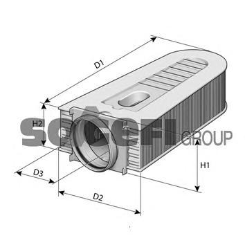 a1470 Фильтр воздушный MERCEDES C250 CDI 150KW/204HP (08/08 - )