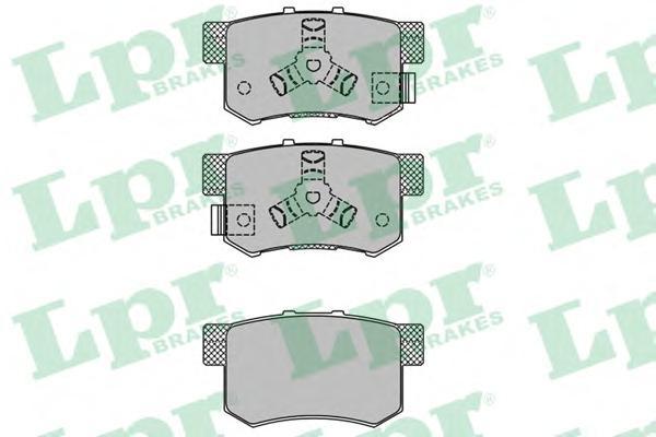 05P1404 Колодки тормозные HONDA ACCORD 2.0-2.4 АКПП 08-/CR-V II 02-06/FR-V 05- задние