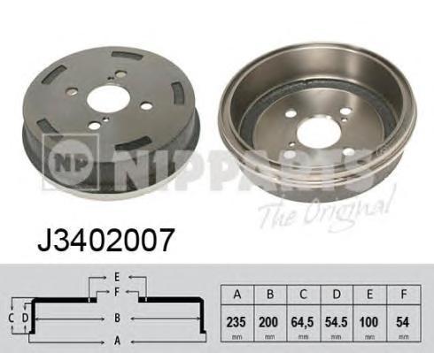 J3402007 Барабан тормозной TOYOTA CARINA II/COROLLA 85-92/CELICA 85-92